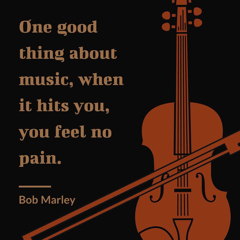 uplifting bob marley quotes on music