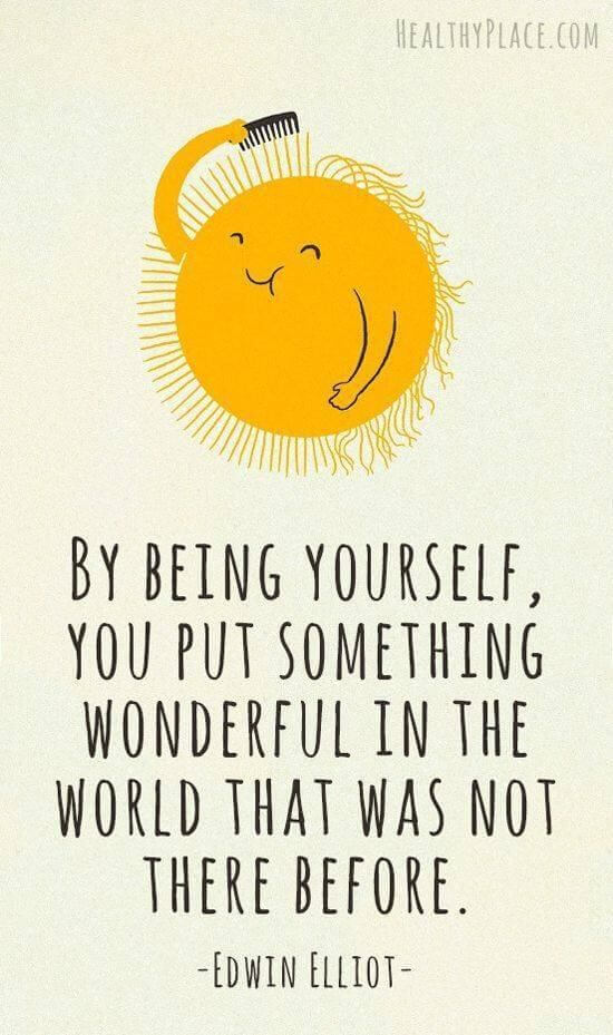 be being yourself