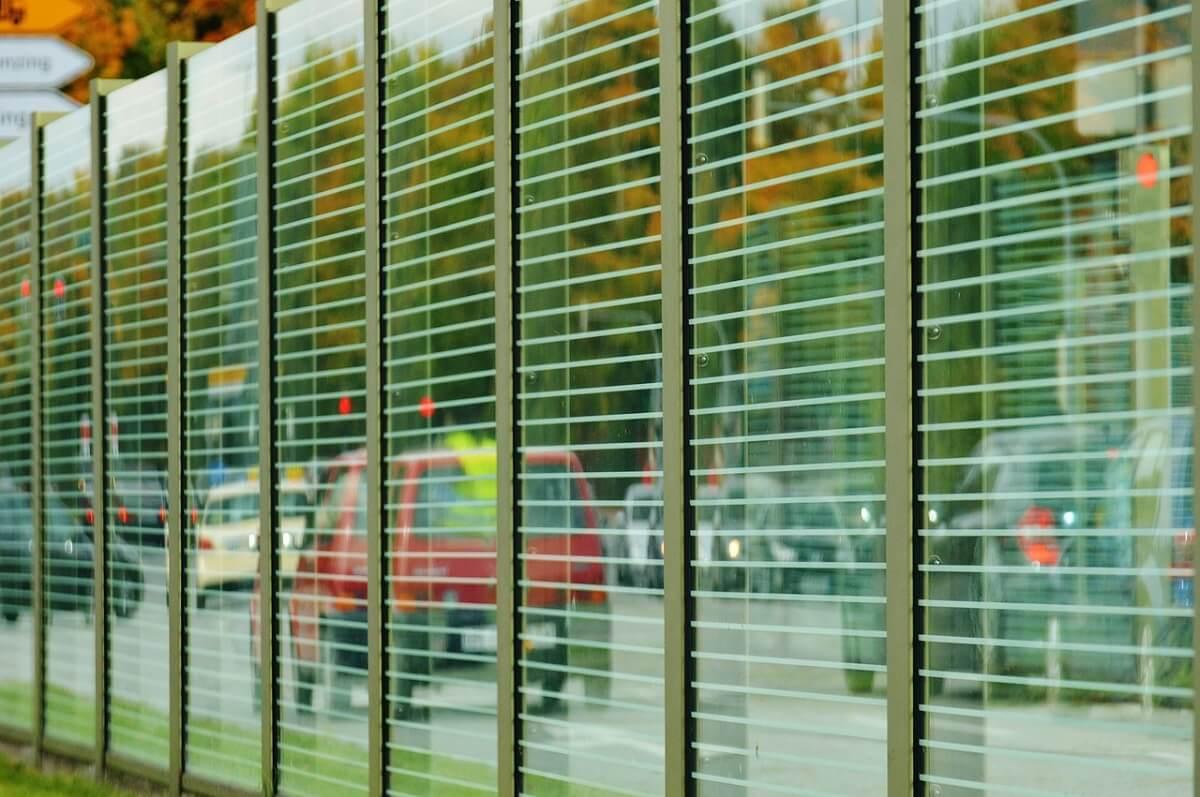 noise barrier glass wall