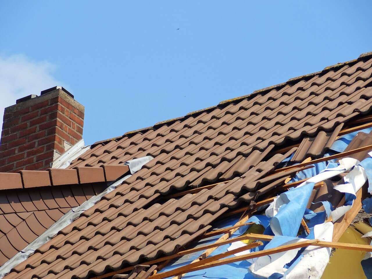 Storm-Damaged Roof